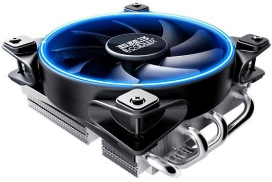 PCCooler Кулер GI-46U CORONA B LGA/115X/775/AM4/3/3+/AM2/2+/FM1/2/2+ (30 шт/кор, TDP 125W, 120mm PWM SilentPro Blue LED FAN, 4 тепловые трубки 6мм, 1000-1800RPM, 26,5dBa)