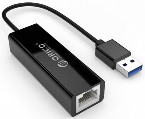 Фото - ORICO UTJ-U3-BK Адаптер USB Ethernet Orico UTJ-U3 (черный) сетевой адаптер для yn600lсерии yn300iii yn168 yn216 yn1410 yn300 air yn160iii yn360 yn308 yn608 yn608 rgb