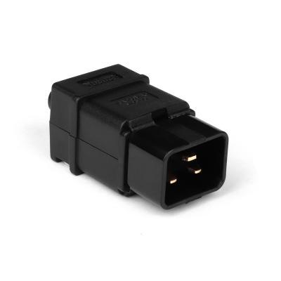 Вилка электрическая кабельная, IEC 60320, C20, 16A, 250V, разборная, черная, TopLAN TOP-IEC-320-C20 [zob] original dpna c20 residual current circuit breaker leakage switch 2p20a genuine new 5pcs lot