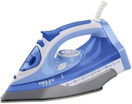 Утюг DELTA LUX DL-712 белый с синим утюг delta