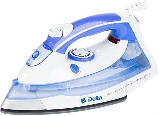 Утюг DELTA DL-711 белый с фиолетовым утюг delta dl 713 white turquoise
