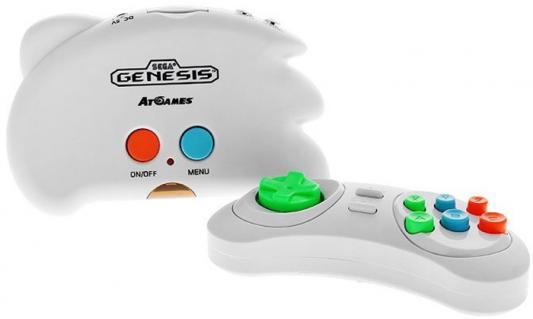 SEGA Genesis Nano Trainer + 40 игр (геймпад, AV кабель) белый [ConSkDn33] кабель av компонентный для рsp go [psp]