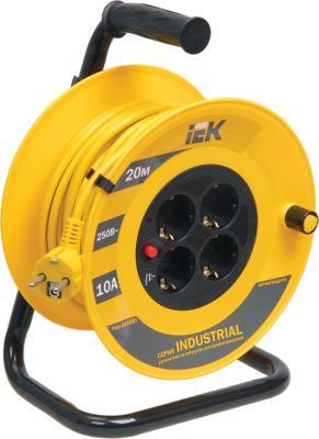 Iek WKP14-10-04-20 Катушка УК20 с т/з 4 места 2 Р + P Е /20м 3х1,0 мм2 Industrial катушка swd инерционная т 100