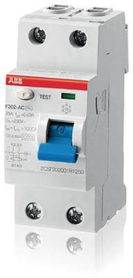 ABB 2CSF202001R1400 Выкл.диф.тока 2мод. F202 AC-40/0,03