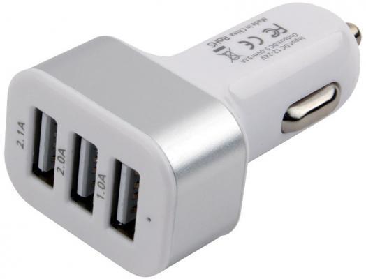 Автомобильное зарядное устройство Cablexpert MP3A-UC-CAR17 1A/2А/2.1А белый стоимость