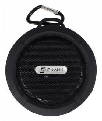 Колонка порт. Oklick OK-15 черный 3W 1.0 BT/USB 300mAh