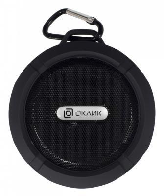 Колонка порт. Oklick OK-15 черный 3W 1.0 BT/USB 300mAh колонка портативная oklick ok 11 bluetooth black