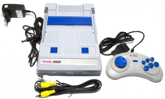 Игровая консоль Dendy Junior 2 белый в комплекте: 195 игр