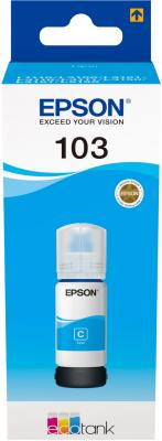Картридж струйный Epson 103C C13T00S24A голубой (65мл) для Epson L3100/3110/3150 картридж epson 103c голубой [c13t00s24a]