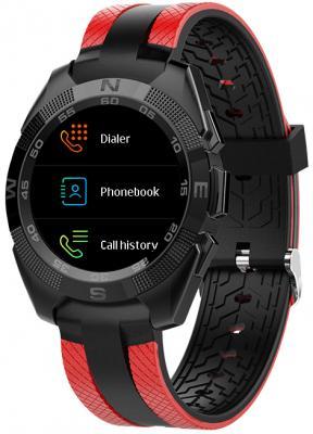 Умные часы Prolike Jet PLSW7000RD с цветным дисплеем, черно-красные цена и фото