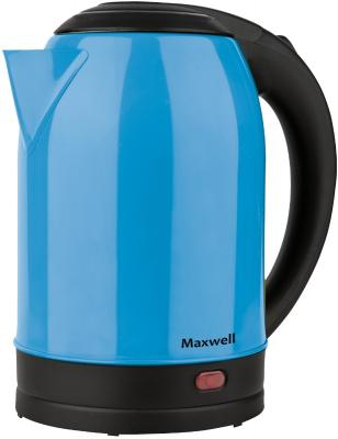 Чайник электрический Maxwell MW-1066(B) 1850 Вт синий чёрный 1.7 л нержавеющая сталь чайник электрический maxwell mw 1066 b 1850 вт синий чёрный 1 7 л нержавеющая сталь