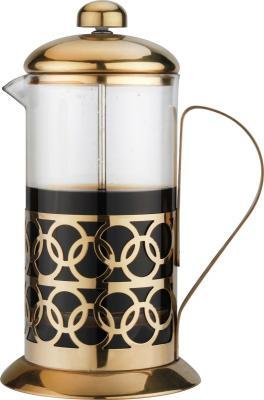 Картинка для 7681-BK Чайник заварочный/кофейник BEKKER 1,0 мл. Ручка из нерж. стали.Состав: жаропрочное стекло.