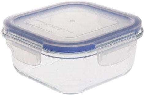 8808-BK Контейнер  BEKKER пищевой 520мл, квадрат., размер 13,9*13,9*6см,Состав: жаропрочное стекло.