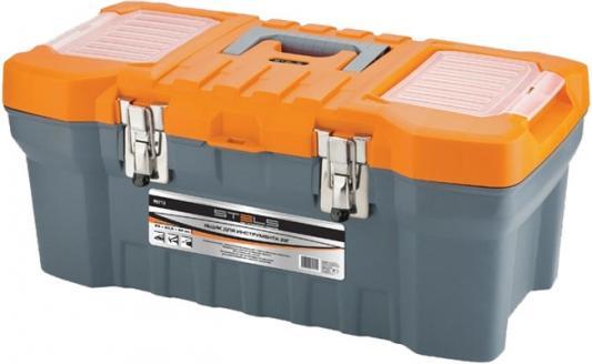 Ящик STELS 90712 для инструмента с мет. замками 220х260х510мм stanley ящик для инструмента 2000 с 2 мя встроенными органайзерами и металлическими замками пластм