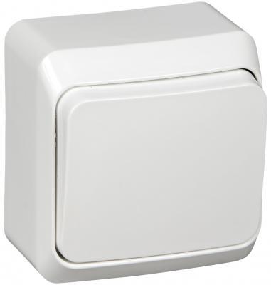 Выключатель BA10-001b Этюд 1клавишный открытой проводки 10А белый Schneider Electric schneider двухклавишный выключатель этюд белый
