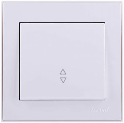 Выключатель LEZARD 703-0202-105 серия скр.проводки Рейн проходной белый с белой вставкой