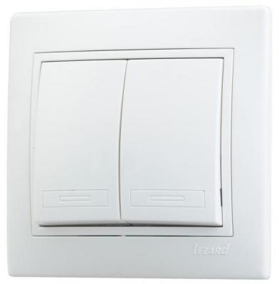Выключатель LEZARD Мира 10 A белый 701-0202-101 цены