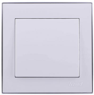Выключатель LEZARD 703-0225-100 серия скр.проводки Рейн 1клавиша белый с хромовой вставкой