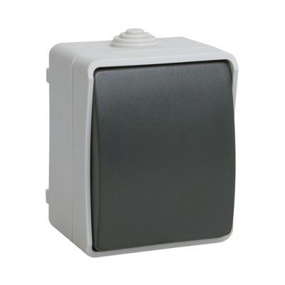 Выключатель IEK Форс ВС20-1-0-ФСр 10 A серый