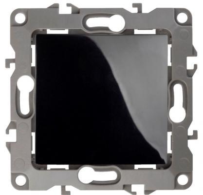 Выключатель ЭРА 12-1001-06 10АХ-250В, IP20, без м.лапок, Эра12, чёрный