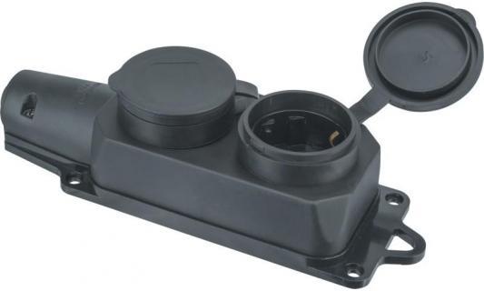 Колодка NAVIGATOR 61371 2-м с заземлением каучук черная