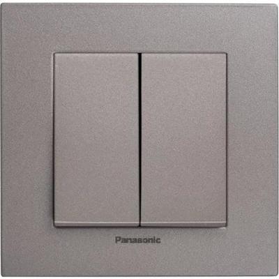 Механизм выключателя PANASONIC WKTT0009-2DG-RES Karre Plus 2кл темно-серый