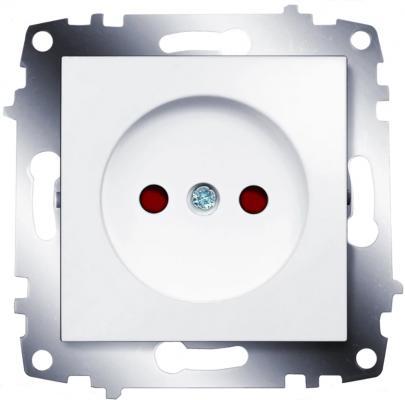 Механизм розетки ABB 619-010200-215 1-м СП Cosmo 16А IP20 без заземл. бел.