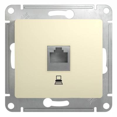 Механизм розетки SCHNEIDER ELECTRIC GSL000281K Glossa комп. 1-м rj45 беж.