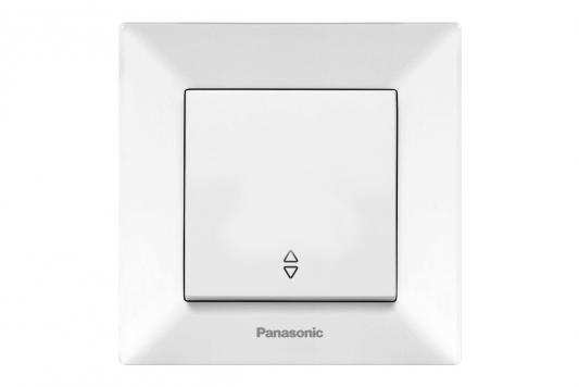 Переключатель PANASONIC WMTC0003-2WH-RES Arkedia 1кл проходной белый цена в Москве и Питере