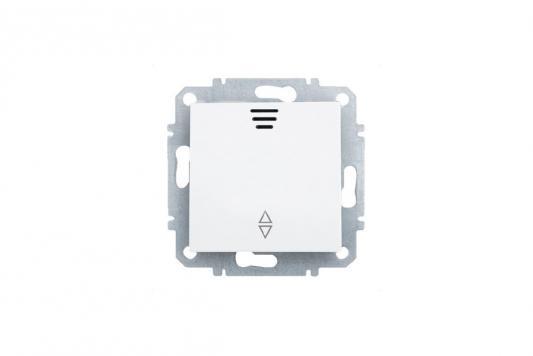 Переключатель ZAKRU 602158 BIEN одноклавишныйс LED подсветкой (проходной) (Т.Белый) 230В/50Гц 10А
