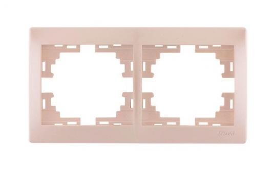 Рамка LEZARD 701-3000-147 серия Мира 2-ая горизонтальная б/вст жемчужно-белый перламутр