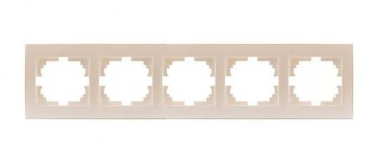 Рамка LEZARD 703-3030-150 серия Рейн 5-ая горизонтальная жемчужно-белый
