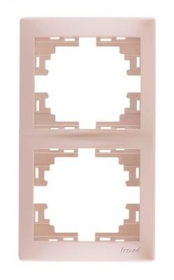 Рамка LEZARD 701-3000-152 серия Мира 2-ая вертикальная жемчужно-белый перламутр