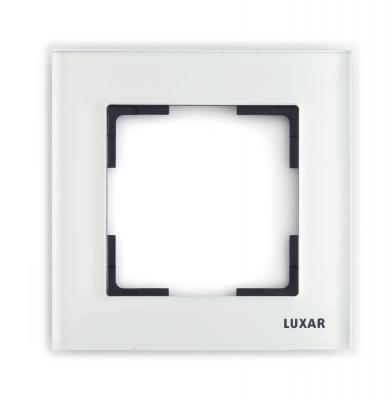 Рамка LUXAR Art 15.901.20 на 1 пост белое стекло