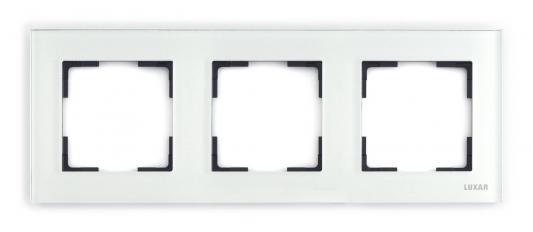 Рамка LUXAR Art 15.903.20 на 3 поста белое стекло горизонт.