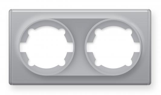 Рамка ONEKEYELECTRO1E52201302 2-м Florence сер, серый  - Купить