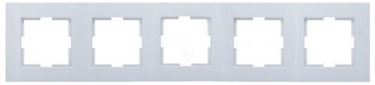 Рамка PANASONIC WKTF0805-2SL-RES Karre Plus 5м горизонтальная серебро механизм выключателя panasonic wktt0010 2sl res karre plus 2кл с подсветкой серебро