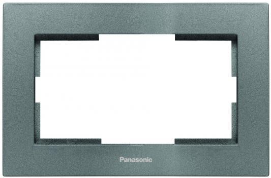 Рамка PANASONIC WKTF0809-2DG-RES Karre Plus для 2-й розетки темно-серый
