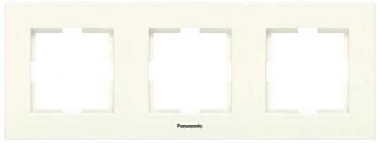 Рамка PANASONIC WMTF0803-2BG-RES Arkedia 3м горизонтальная крем