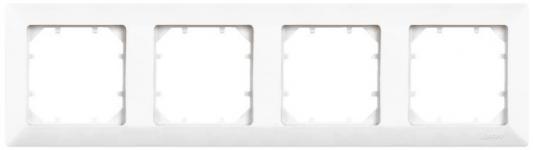 Рамка ZAKRU 600161 CLASICO 4 поста (Белый) пластик цена