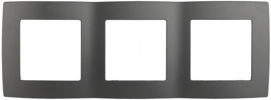 Рамка ЭРА 12-5003-12 на 3 поста, Эра12, графит
