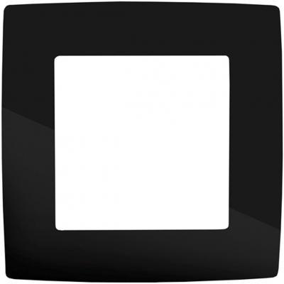 Рамка ЭРА 12-5001-06 на 1 пост, Эра12, чёрный
