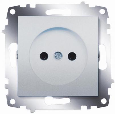 Розетка ABB COSMO 619-011000-215 алюминий б/з