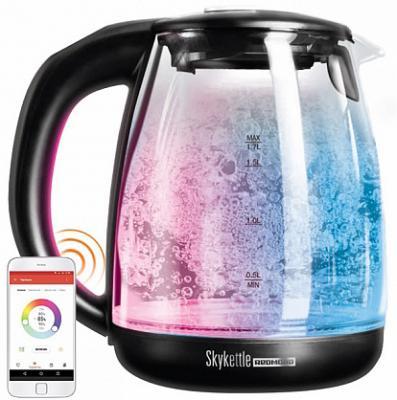 умный чайник светильник redmond skykettle g200s Чайник Redmond SkyKettle G210S 2200 Вт чёрный 1.7 л стекло из ремонта