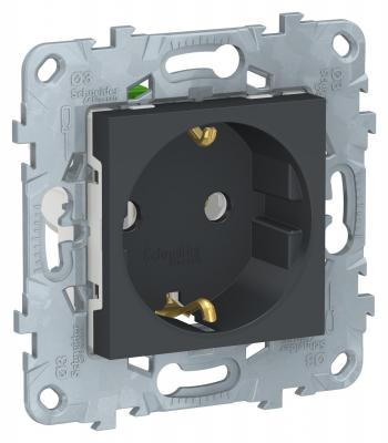 Розетка SCHNEIDER ELECTRIC NU505654 unica new с заземл. без шторок с быстрозаж. клеммами антрацит xt112s1pcm12 schneider new high quality proximity switch sensor warranty for one year