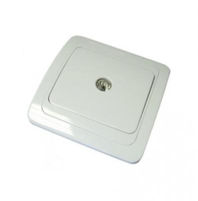 Розетка TDM SQ1804-0014 TV простая 0-2400 гц мама белая валдай