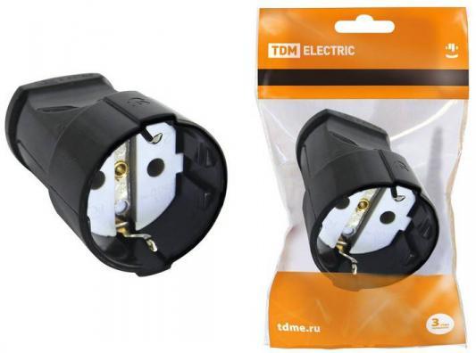 Розетка кабельная ТДМ SQ1806-0412 2П+3 черная 16А 250B серии Народная термокружка 470 мл нерж сталь mb 1288847