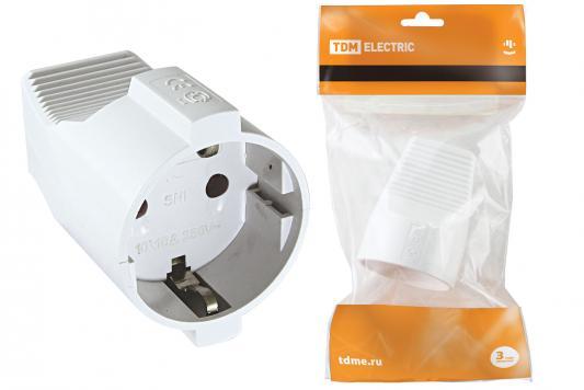 Розетка кабельная ТДМ SQ1806-0411 2П+З белая 16А 250B серии Народная стоимость