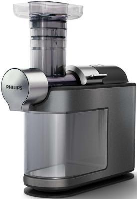 Соковыжималка Philips HR1947/30 200 Вт пластик серебристый серый соковыжималка philips hr1836 00 500 вт алюминий серебристый