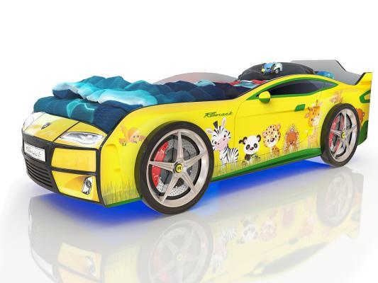 Купить со скидкой Кровать-машина 160х70см Romack Kiddy (желтый зверята)